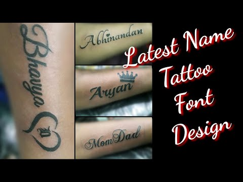 Name Tattoo Design On Hand || Latest Tattoo Font Design || Letters Tattoo