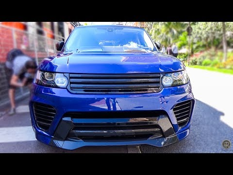 Overfinch Supersport Range Rover SVR - LOUD EXHAUST SOUNDS IN MONACO!