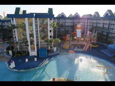 Arriving At The Nickelodeon Suites Resort (Nick Hotel) In Orlando FL & A Quick Tour!