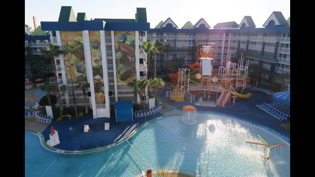 arriving at the nickelodeon suites resort (nick hotel) in orlando