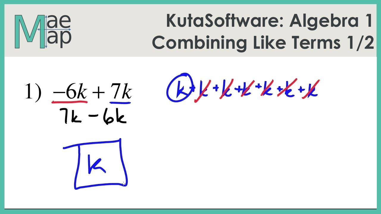 KutaSoftware: Algebra 1- Combining Like Terms Part 1