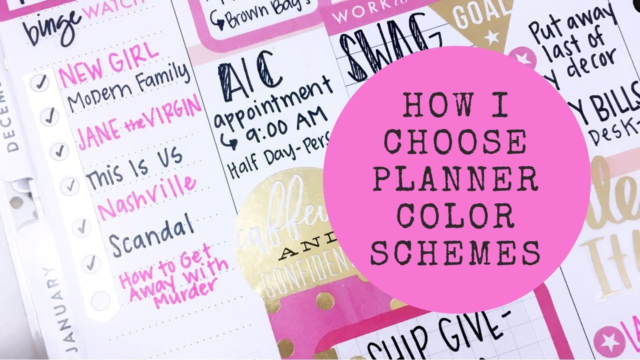 How I Choose Planner Color Schemes - YouTube