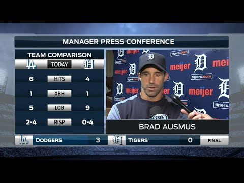 LAD@DET: Ausmus on Fulmer's outing, lack of offense