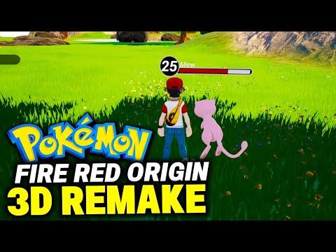 POKEMON FIRE RED ORIGINE 3d Remake!? The 3D Pokemon Fan Remake