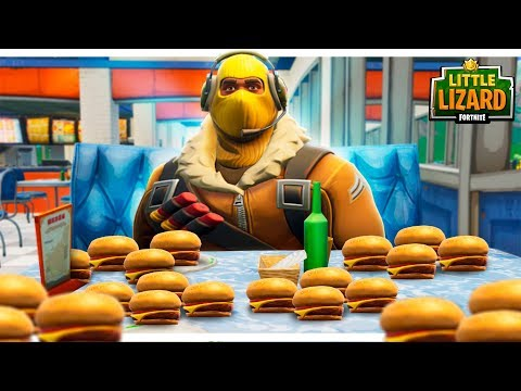 RAPTOR GETS FAT OFF DURR BURGERS! - FORTNITE SHORT