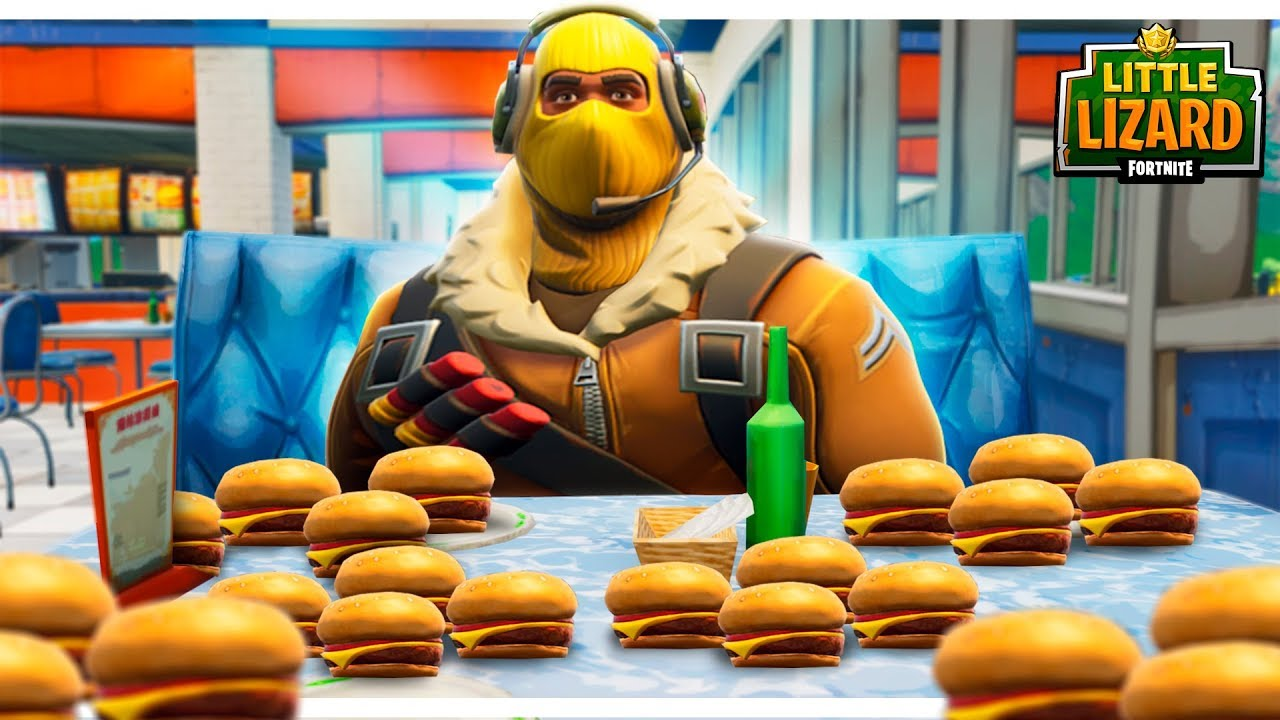 raptor gets fat off durr burgers fortnite short films - fat noob skin fortnite