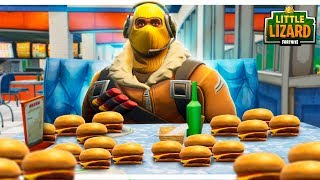 Raptor Gets Fat Off Durr Burgers Fortnite Short Films Vloggest