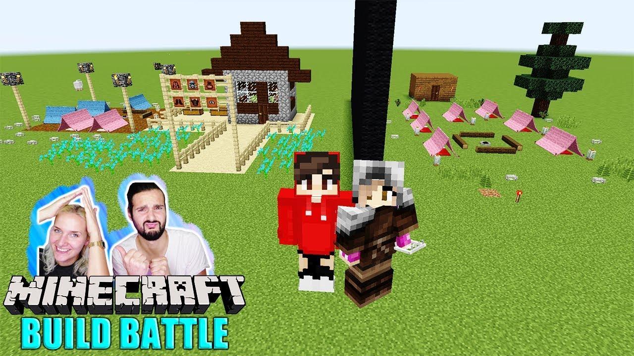 NINAS CAMP Vs KAANS CAMP Riesiges Zeltlager Für Jung Und Alt - Minecraft altmodische hauser bauen