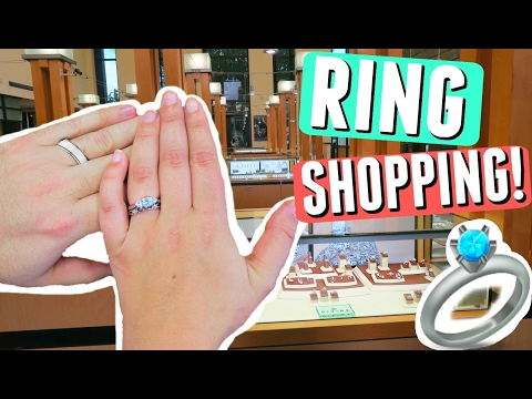 WEDDING RING SHOPPING VLOG! MY ENGAGEMENT RING