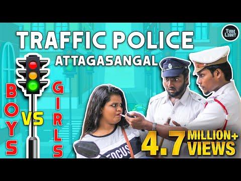 Traffic Police Attagasangal | Traffic Police Sothanaigal | Girls Vs Boys | Random Video | Tube Light