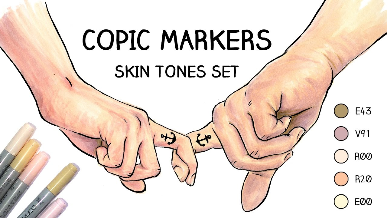 Copic Markers Skin Tones Set Hands