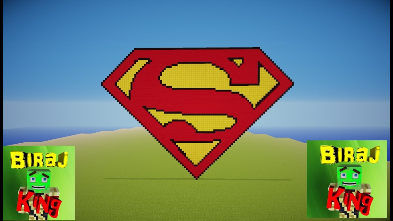 Minecraft Superman Logo Pixel Art Time Laspe