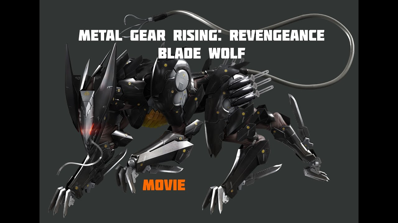 metal gear rising revengeance blade wolf game movie
