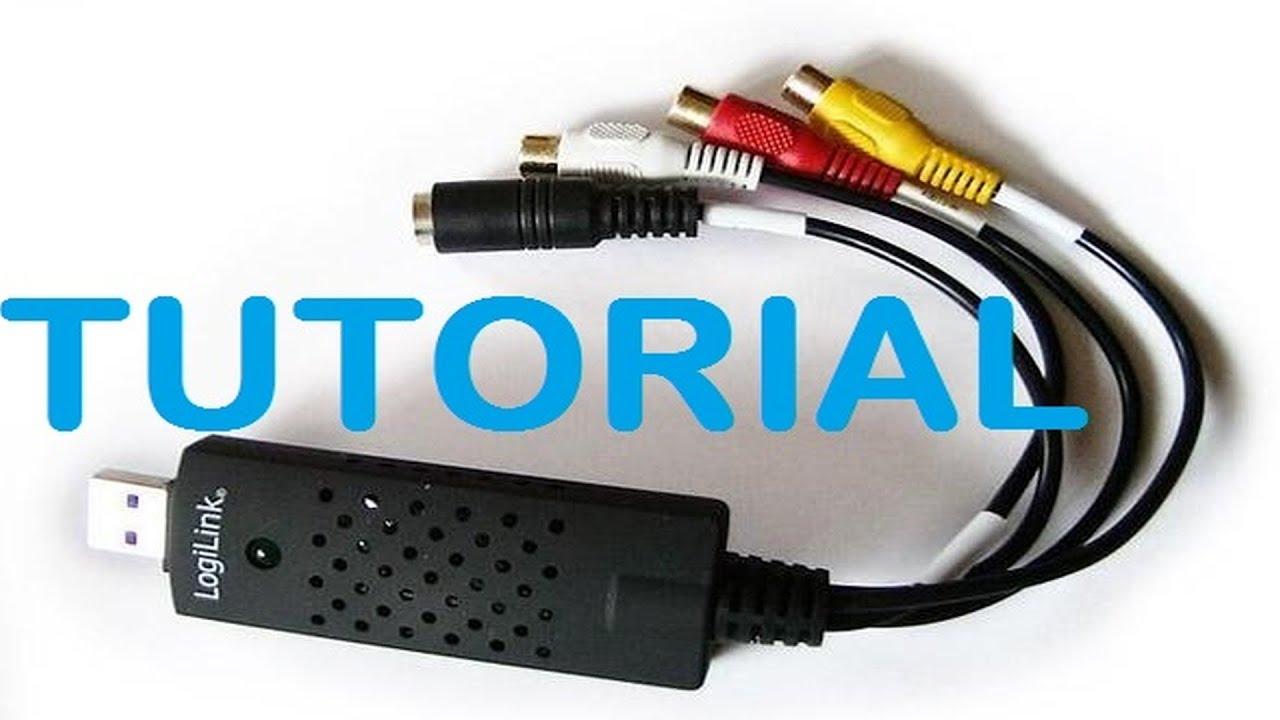 LogiLink video Grabber USB 2.0 test installieren und aufnehmen - YouTube