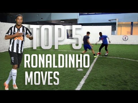 TOP 5 RONALDINHO SKILL MOVES - FOOTBALL SKILLS