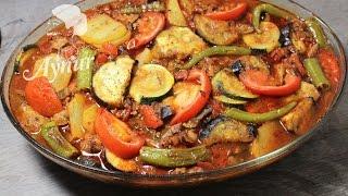 Kartoffel-Auberginen Auflauf mit Hackfleisch # Gemüseauflauf# Patlican ve patatesli oturtma tarifi