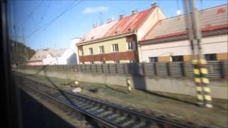 Поездка в Дрезден на поезде Прага - Гамбург. Вид из окна + интерьер поезда.