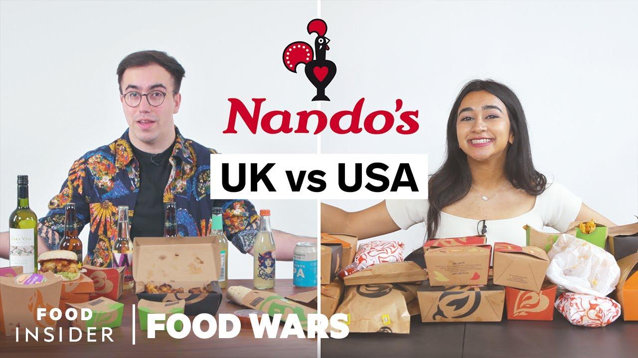 US vs UK Nando's | Food Wars
