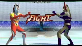 (PPSSPP) Ultraman Fighting Evolution 0 Ultraman Orb Burnmite Vs Ultra Father