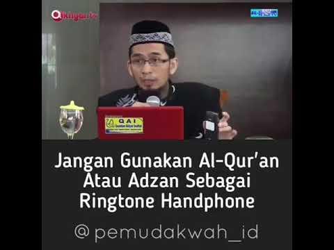 JANGAN Gunakan  Al-QURAN  ATAU AZAN SEBAGAI RINGTONE HANDPHONE