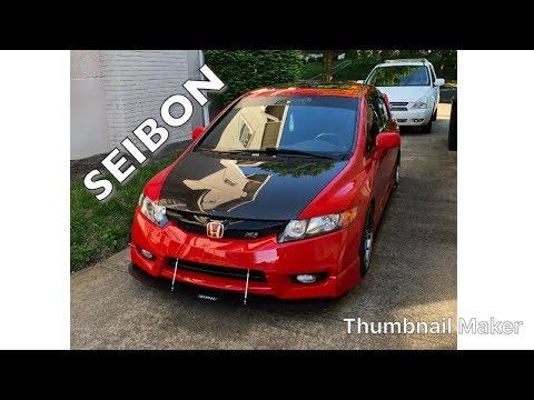 Civic Si Seibon Carbon Fiber Hood Install
