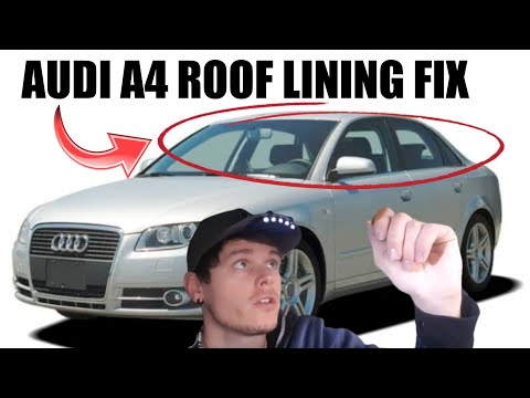 Audi A4 Roof Headliner Repair (How To Fix a Sagging Ceiling in the Car)