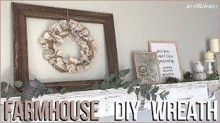 FARMHOUSE DIY DECOR | Drop Cloth & Burlap Rag Wreath
