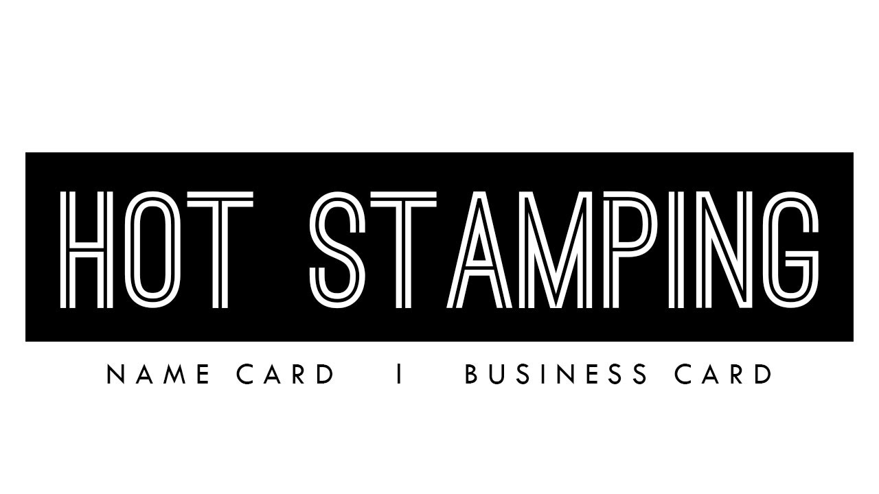 Hot Stamping GOLD, Name Card, Business Card, Design, Print, Delivery ...