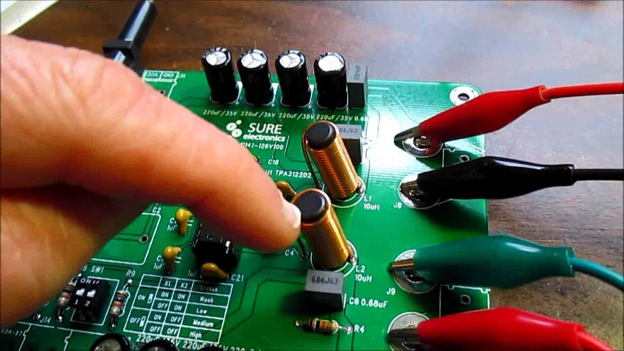Class D Stereo Audio Amplifier Kit Review Youtube