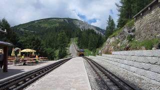 Schneebergbahn Zahnradbahn (rack railway) Haltestelle Baumgartner Samalander 11 2017