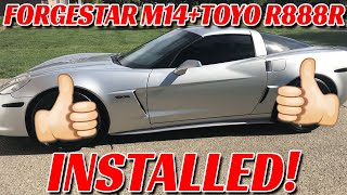 Forgestar M14 Wheels & Toyo R888R Tires Installed on my C6 Corvette