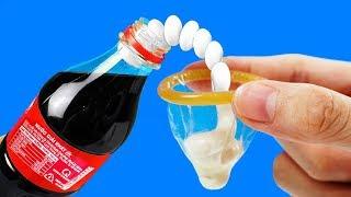 Experiment condom endurance vs Coca cola & Mentos