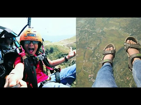 PARAGLIDING DOWN THE PEAK! | 2430 METRES ABOVE SEA LEVEL!
