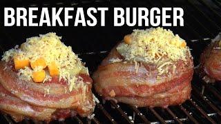 Beer Bottle Bacon Breakfast Burger