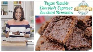 Vegan Double Chocolate Zucchini Brownies