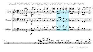 🎶 Jazz Intermezzo For Flute/Violin, Bassoon And Trombone