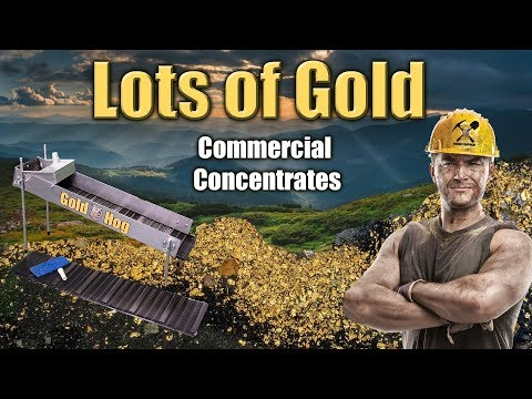 Gold Mining - Cleaning Commercial Concentrates