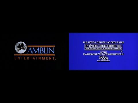 Amblin Entertainment/MPAA Rated PG (Still) [Closing] (1987) (1080p HD)