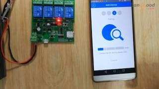 SONOFF® DIY 4 Channel Jog Inching Self-locking Wireless Switch Sokcet APP Remote Control
