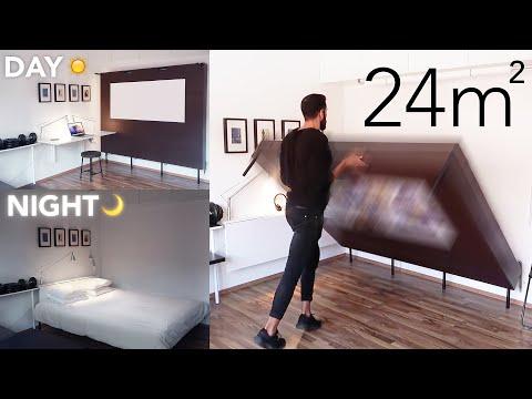 Tiny apartment tour!  260sqf/24sqm