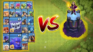 New Level Wizard Tower vs All Max Troops | Clash of Clans 🔥