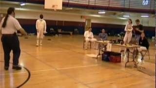 Dan Cantillon Fencing in 2003 Bout 5