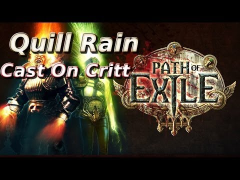 Quill Rain Cast On Critt | Path Of Exile