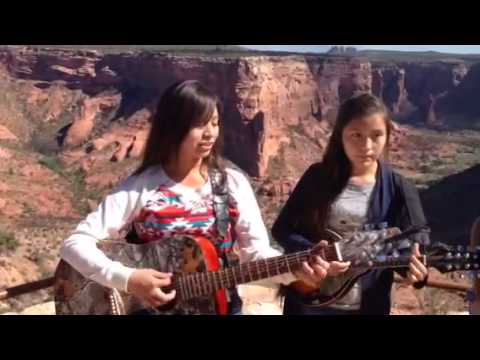 Halwood sisters at spider rock near chinle arizona