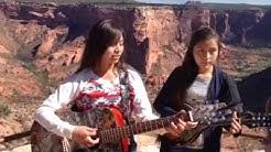 Halwood sisters at spider rock near chinle arizona