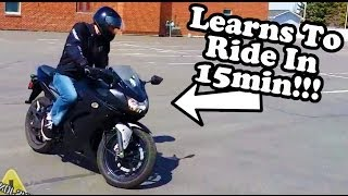 First Time Riding a Motorcycle - Ninja 250