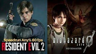 Resident Evil Zero  Y Resident Evil 2 Remake l Speedrun Any% Leon A 60 fps Vamos por el record
