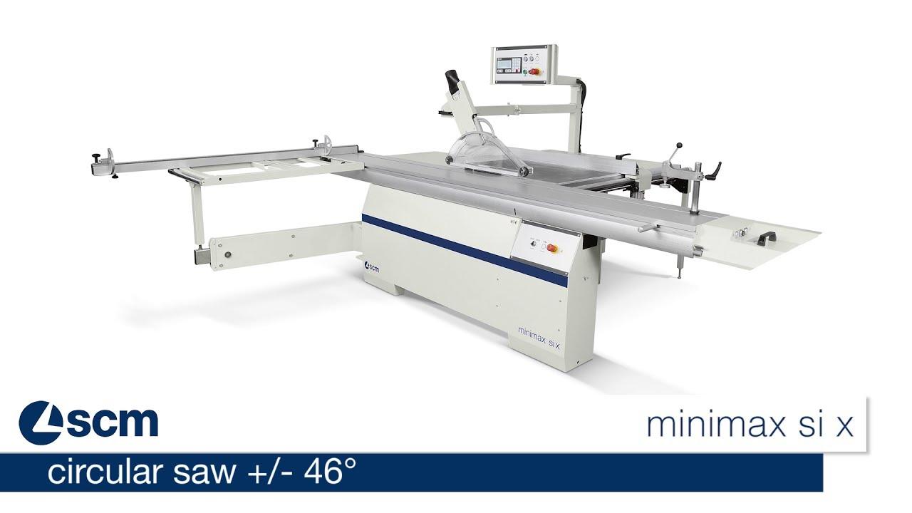 Circular saw with double blade tilting - SCM minimax si x