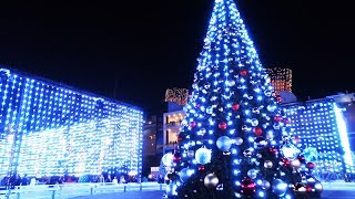 Christmas Tree Lighting Ceremony and light show performance at The Queen Mary: CHILL 2017
