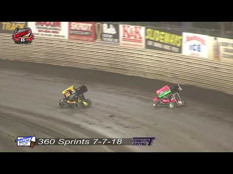 Knoxville Raceway 360 Highlights - July 7, 2018